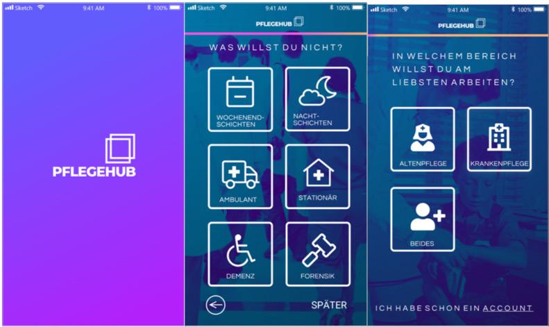 Neue Pflegehub App organisiert Personalvermittlung nach dem Matching-Prinzip