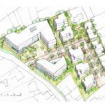 """Entwurfsstudie für die Quartiersentwicklung """"Doverener Mühler"""" in Hückelhoven, Kreis Heinsberg (NRW)"""